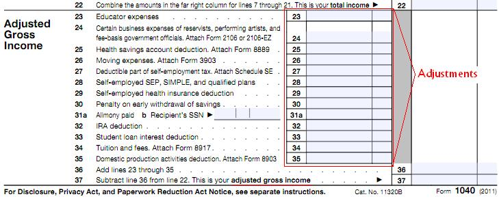 form 1040 no line 37  Adjustments and Deductions…how to reduce your taxable income ...